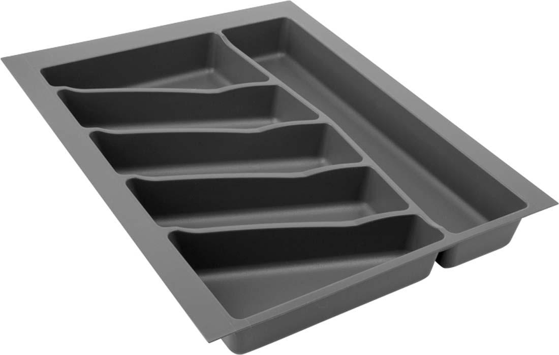Лоток для столовых приборов VOLPATO, цвет: темно-серый, 39 х 49 х 5 см цена