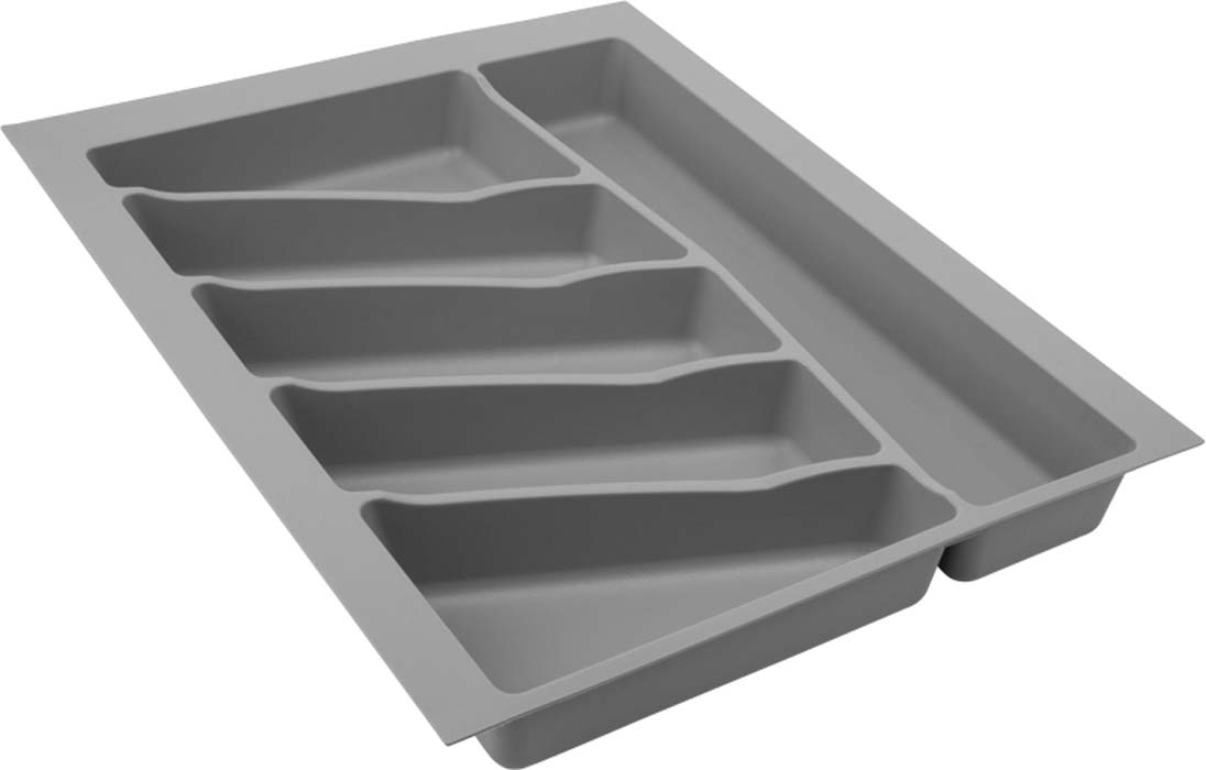 Лоток для столовых приборов VOLPATO, цвет: серый, 39 х 49 х 5 см цена