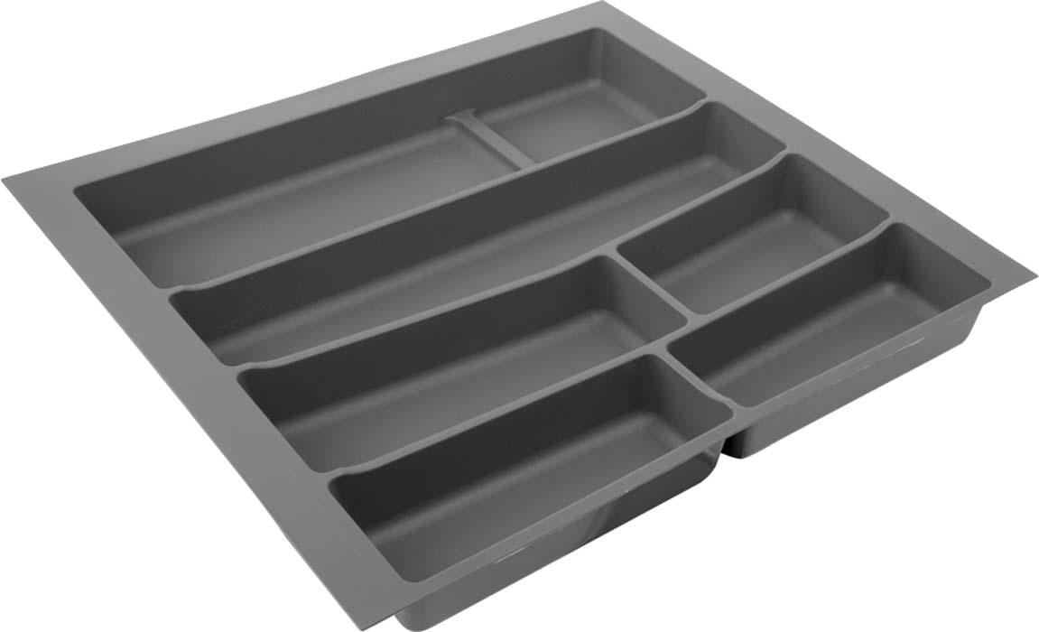 Лоток для столовых приборов VOLPATO, цвет: темно-серый, 54 х 49 х 5 см цена