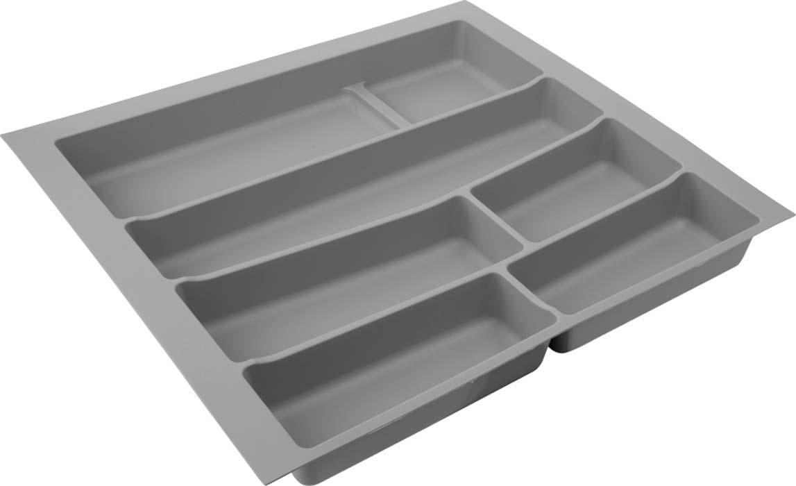 Лоток для столовых приборов VOLPATO, цвет: серый, 54 х 49 х 5 см цена
