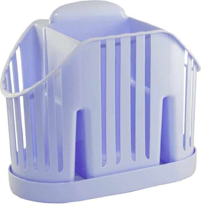 Подставка для столовых приборов Idea, цвет: голубой подставка для столовых приборов kesperd с ручками цвет коричневый 38 х 32 х 4 см
