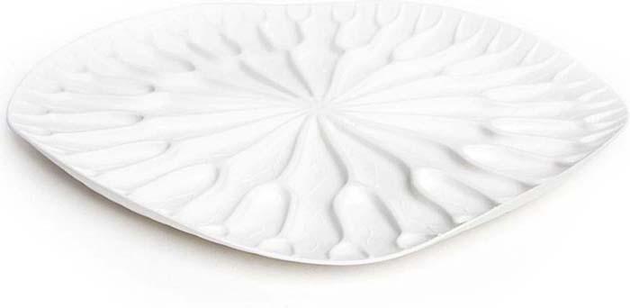 """Сушилка-поднос Qualy """"Lotus"""", цвет: белый, 32,5 x 32,5 х 2,4 см"""