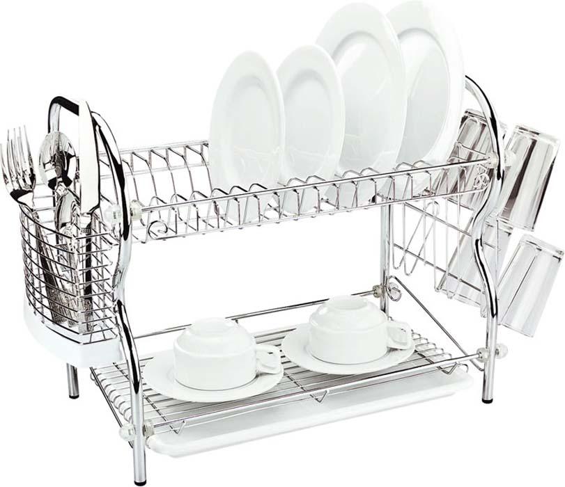 "Сушилка для посуды ""Mayer & Boch"", двухъярусная, 45 см х 26 см х 38,5 см"