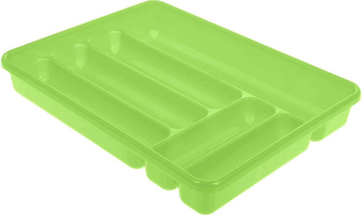 Лоток для столовых приборов Cosmoplast, цвет: салатовый, 6 отделений