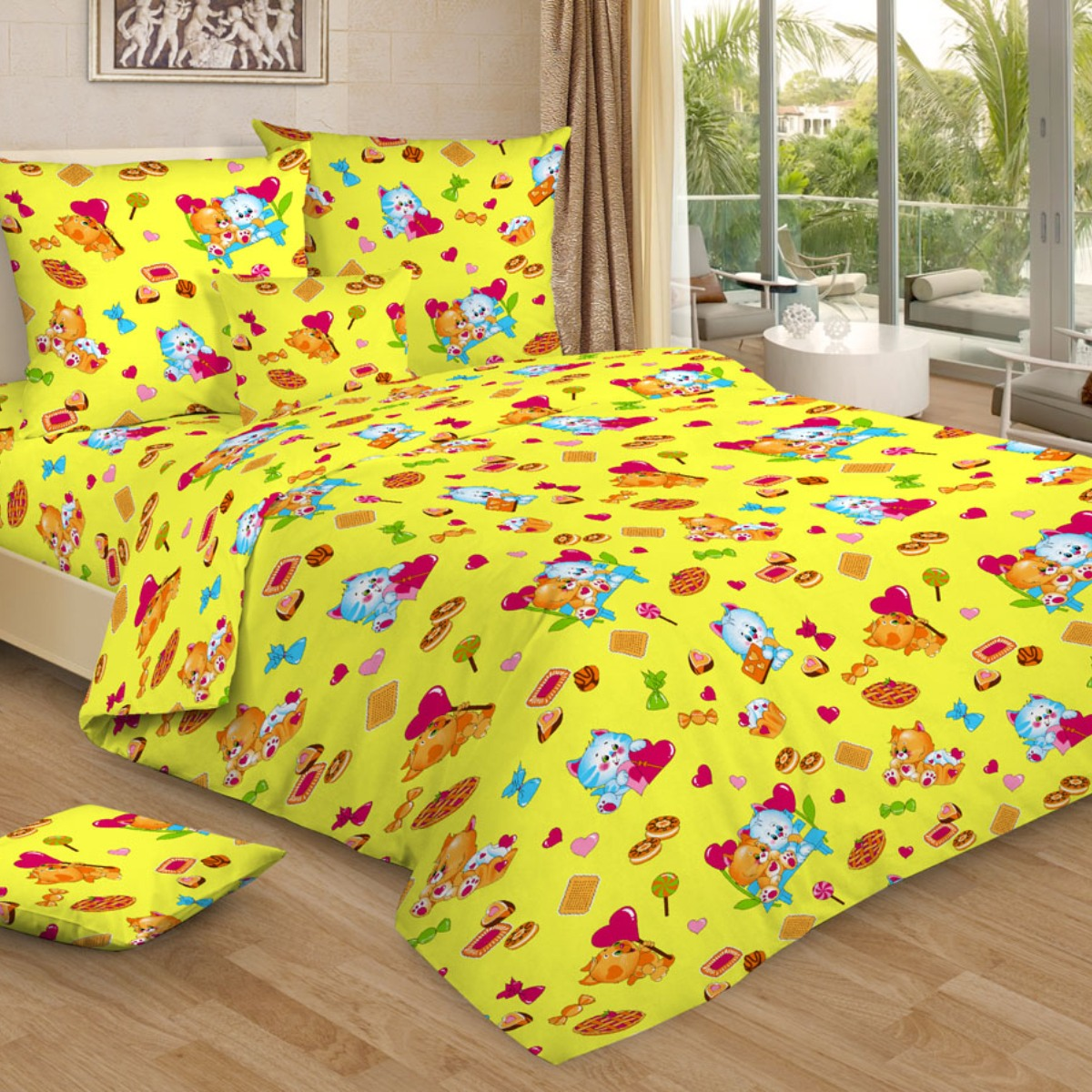 Letto Комплект в кроватку цвет желтый BG-93