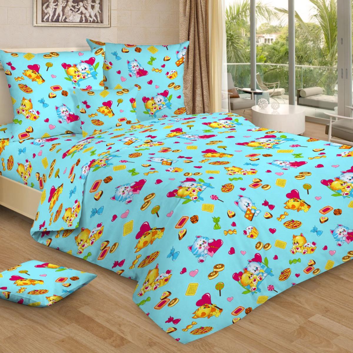 Letto Комплект в кроватку цвет голубой BG-94