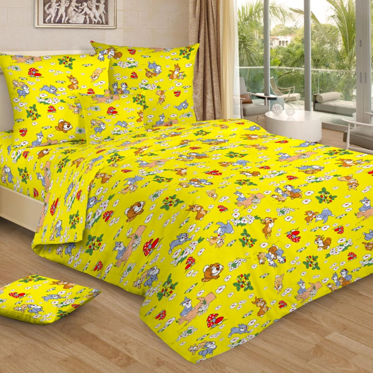 Letto Комплект в кроватку цвет желтый BG-96