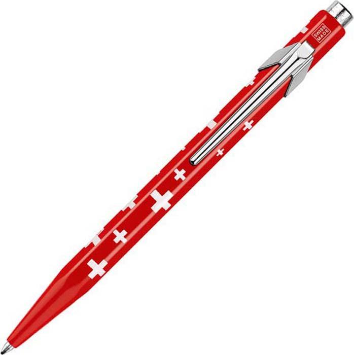 Caran d'Ache Ручка шариковая Office Totally Swiss цвет корпуса: красный, цвет чернил: синий