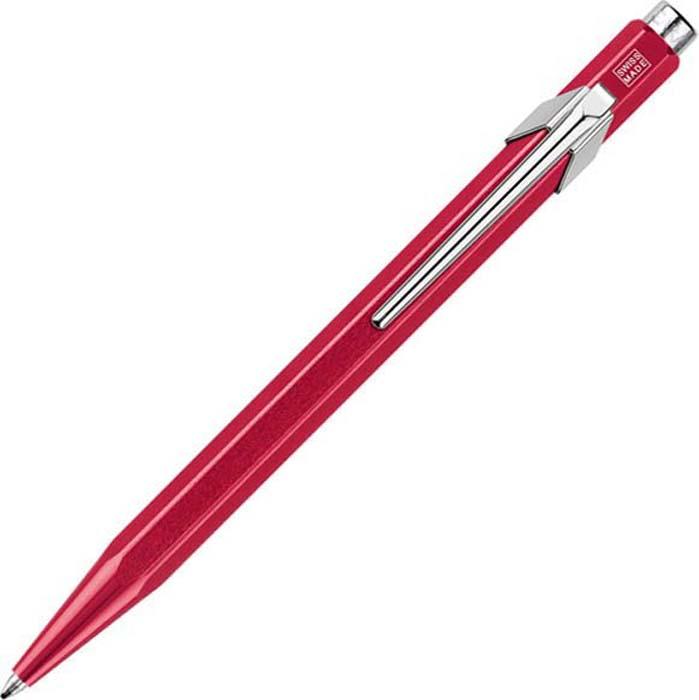 Caran d'Ache Ручка шариковая Office 849 Pop Line цвет корпуса: красный, цвет чернил: синий