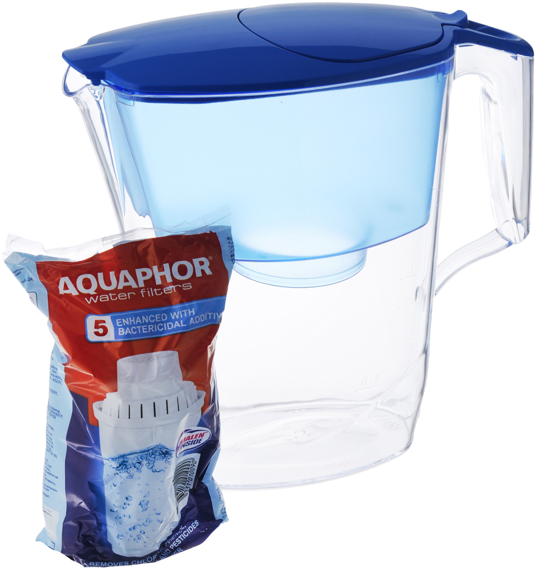 цена на Фильтр-кувшин для воды Аквафор Ультра, цвет: прозрачный, голубой, 2,5 л