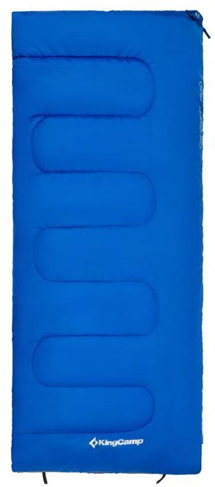 Спальный мешок-одеяло KingCamp Oxygen 300XL, цвет: синий