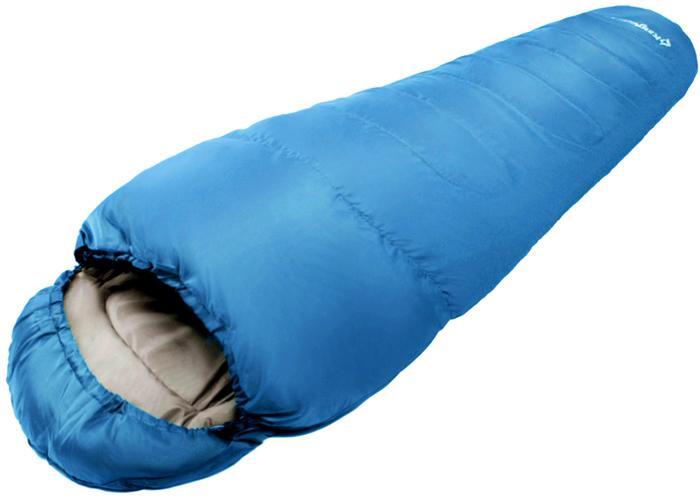 Спальный мешок-кокон KingCamp Trek 125, правосторонняя молния, цвет: синий