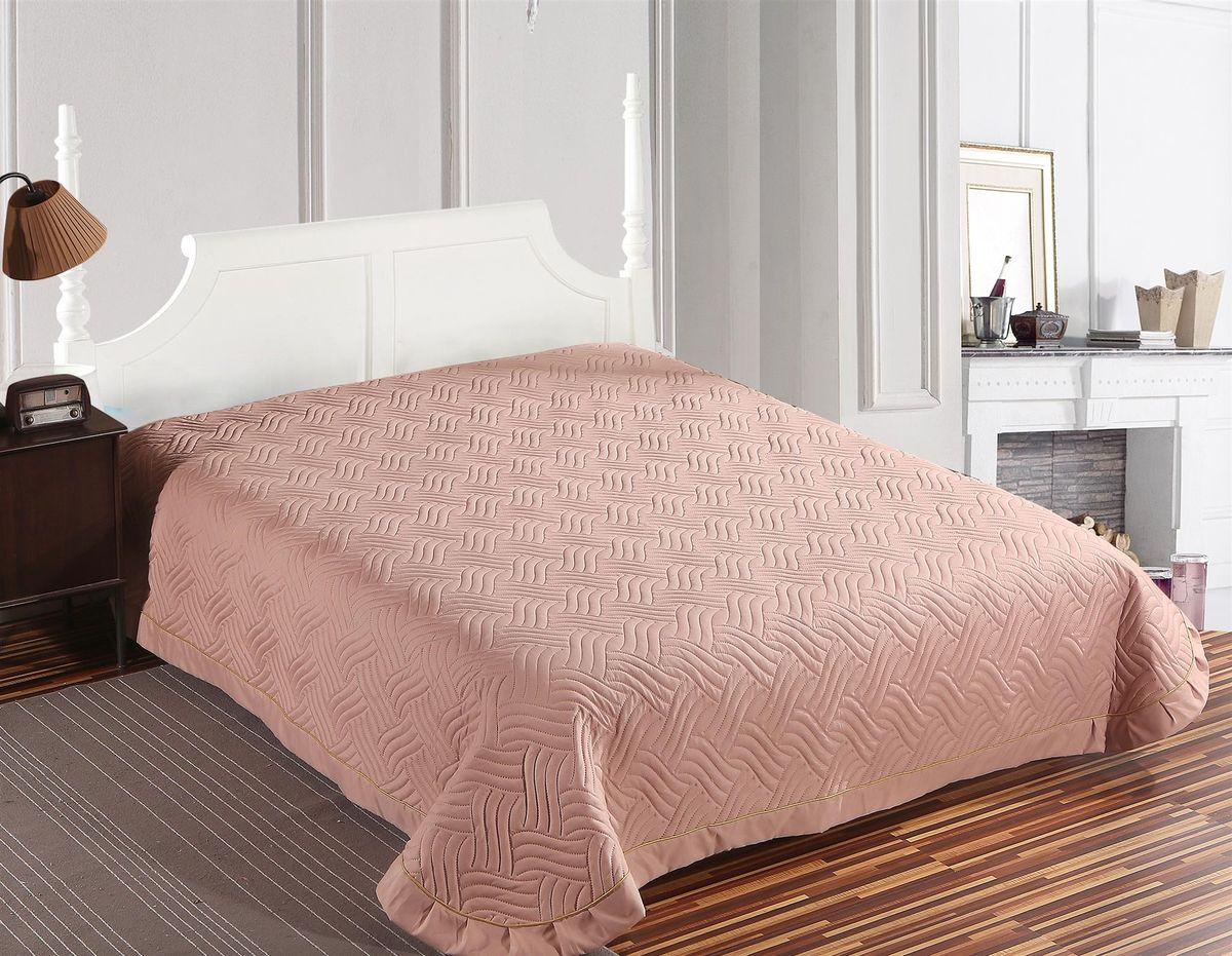 "Покрывало стеганое ""SL"", цвет: розовый, 220 х 240 см"