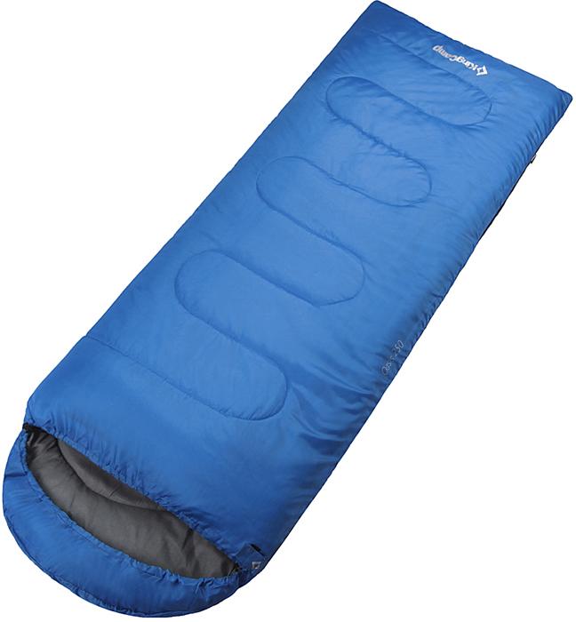 Спальный мешок-одеяло KingCamp Oasis 300, левосторонняя молния, цвет: синий