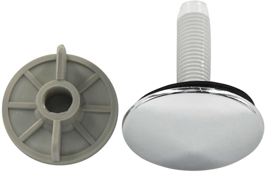 Заглушка на умывальник МастерПроф, хромированная, 50 мм ваза мастерпроф летний узор пластичная 1 л