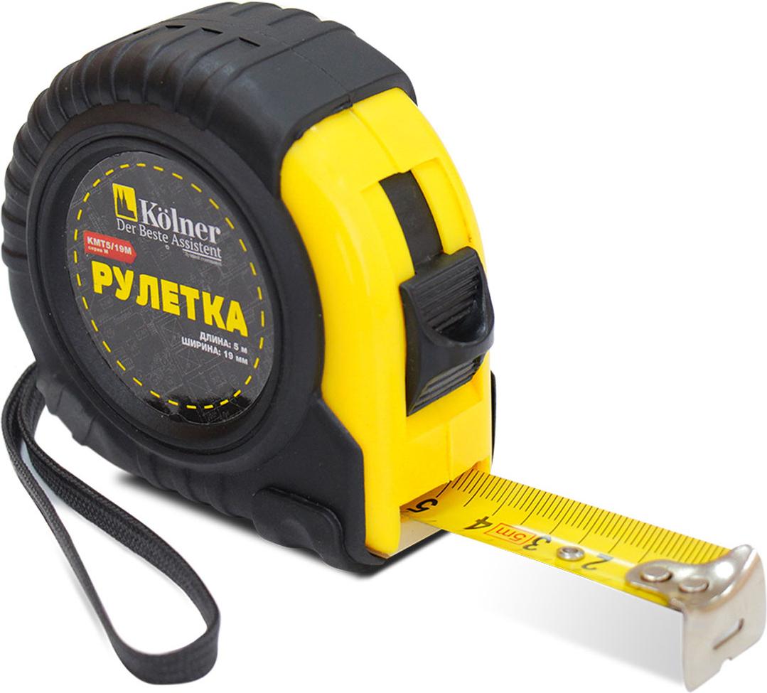 Рулетка Kolner, цвет: желтый, черный, 10 м х 25 мм