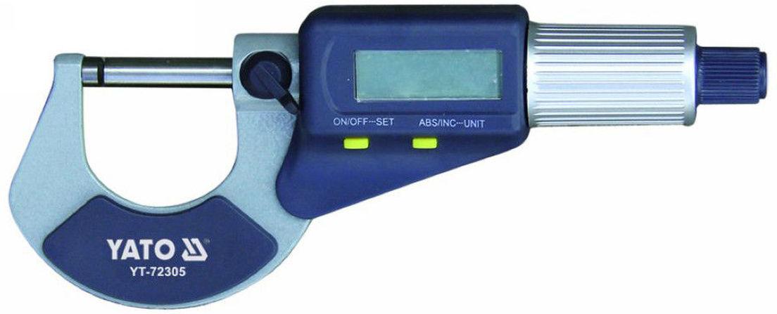Микрометр цифровый Yato, 0-25 мм микрометр proconnect 0 25 мм