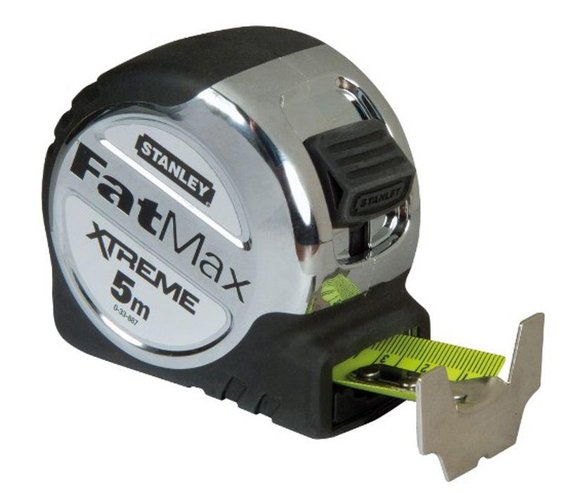 Рулетка Stanley Fatmax, цвет: серый, 5 м х 32 мм