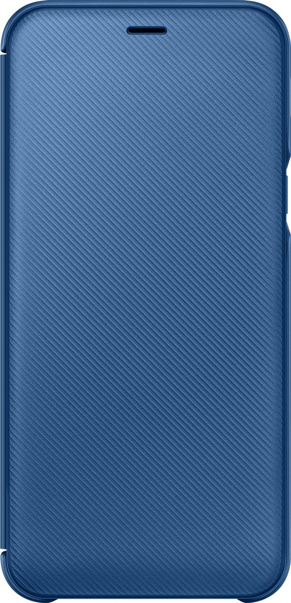 Samsung Wallet Cover чехол для Samsung Galaxy A6 (2018), Blue blue flower design кожа pu откидной крышки кошелек карты держатель чехол для samsung j5prime