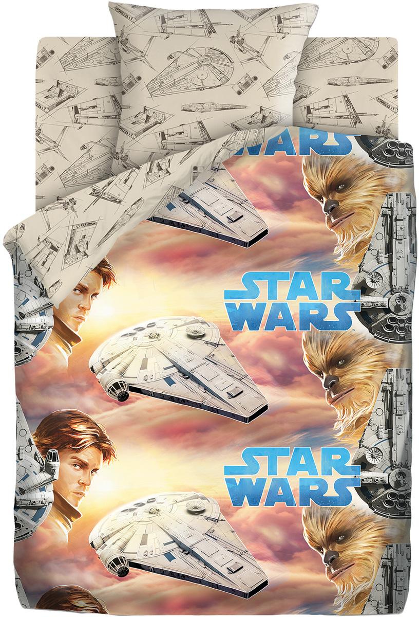 """Комплект постельного белья Star Wars """"Хан Соло и Чуи"""", 1,5 спальное, наволочки 70 х 70"""