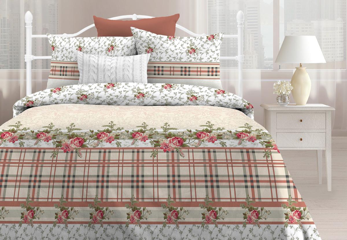 Комплект постельного белья Любимый дом Прованс, 1,5 спальное, наволочки 70 х 70 любимый дом полотенце махровое клео 35 70 любимый дом фиолетовый