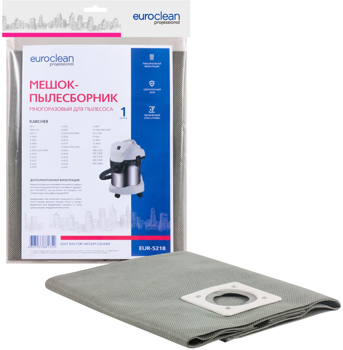 Пылесборник Euroclean EUR-5218 многоразовый для пылесоса Karcher многоразовый конусный фильтр для пылеводососов с посадочным кольцом