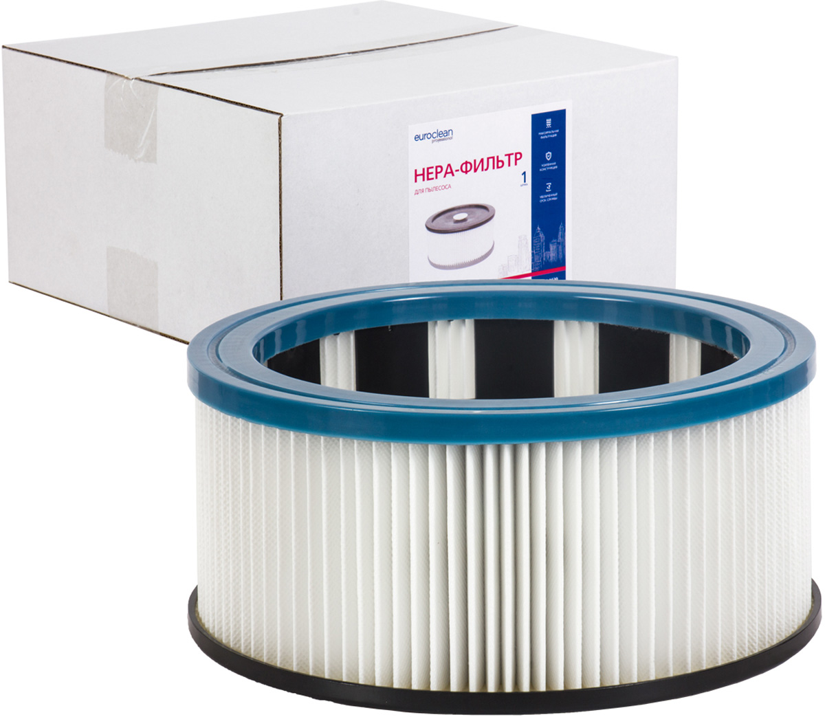 Euroclean FLSM-AS20 фильтр складчатый многоразовый моющийся для пылесосов Felisatti AS20/1200 многоразовый конусный фильтр для пылеводососов с посадочным кольцом