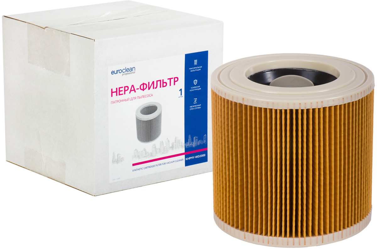 Euroclean KHPMY-WD2000 фильтр складчатый для сухой пыли к пылесосам KARCHER (аналог 6.414-552.0) пылесборник для сухой уборки euro clean e 08