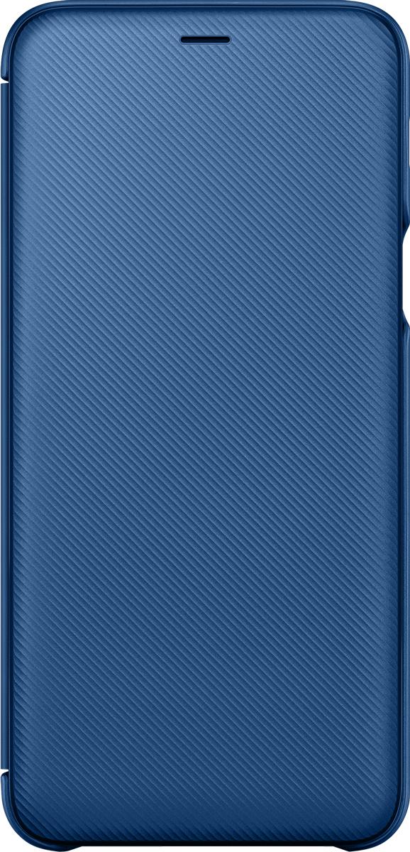 Samsung Wallet Cover чехол для Samsung Galaxy A6+ (2018), Blue blue flower design кожа pu откидной крышки кошелек карты держатель чехол для samsung j5prime