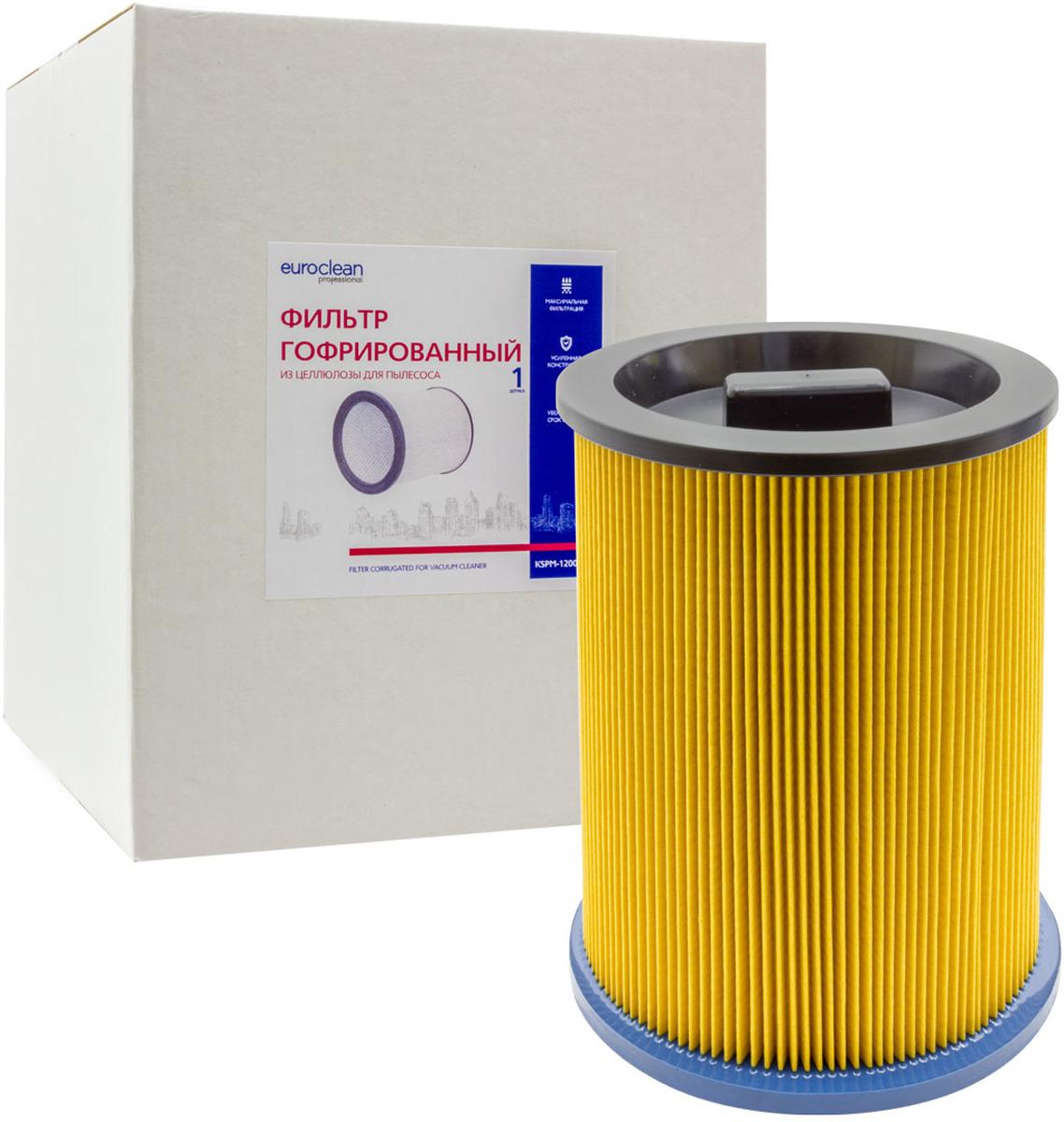 Фильтр Euroclean KSPM-1200NTX складчатый для сухой пыли к пылесосам Kress (аналог 98043501)
