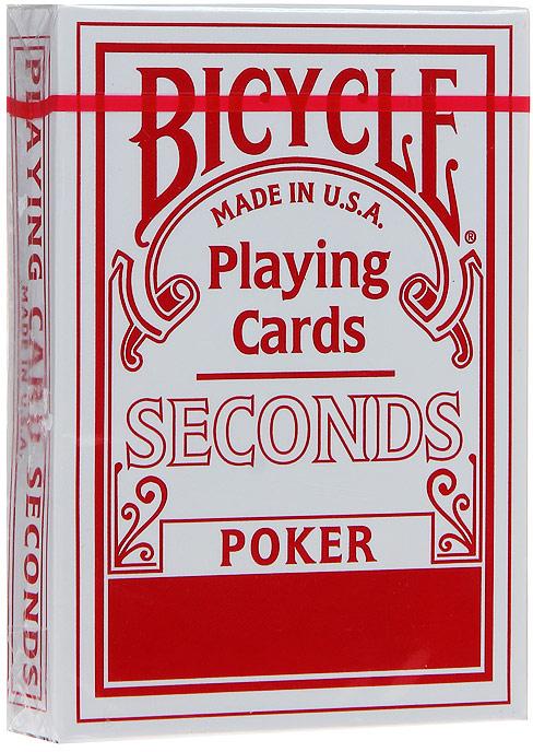 Карты игральные Bicycle Seconds, цвет: красный, 54 карты. 9102к