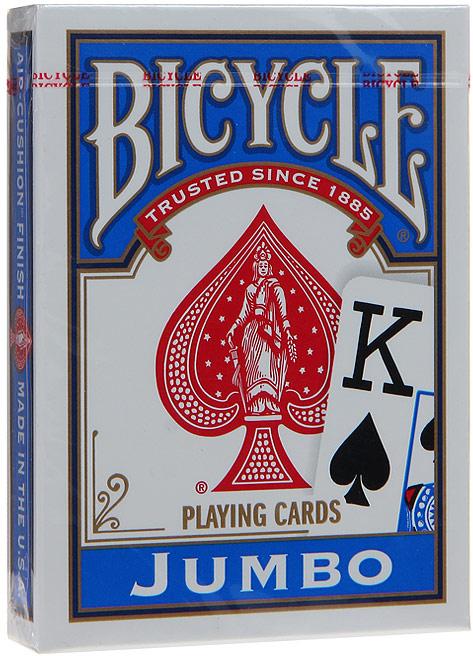 Карты игральные Bicycle Jumbo, цвет: синий, 54 карты. К-461 игральные карты bicycle spectrum deck цвет мультиколор 56 шт