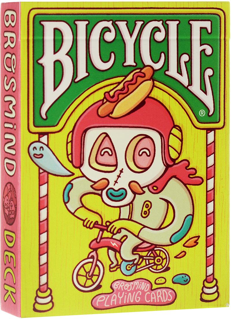 Карты игральные коллекционные Bicycle Бросмайнд, цвет: розовый, 55 карт. 9120 jardin crema кофе в зернах 1 кг промышленная упаковка