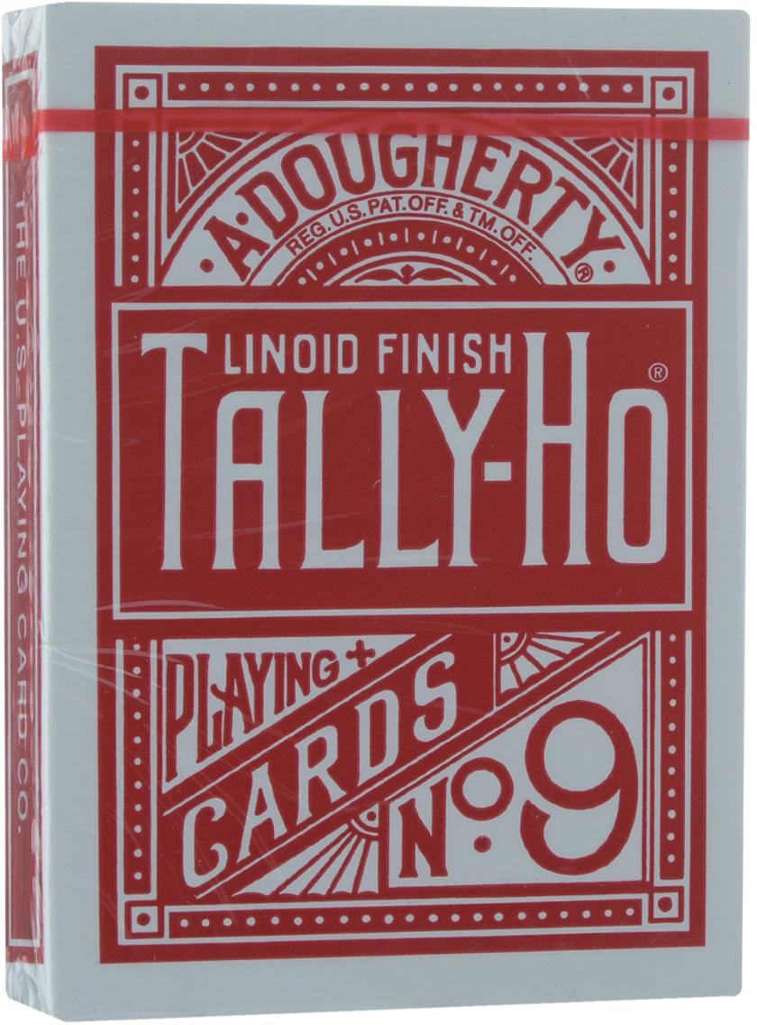 Карты игральные Tally-Ho Fan Back, цвет: красный, 54 шт игральные карты bicycle spectrum deck цвет мультиколор 56 шт