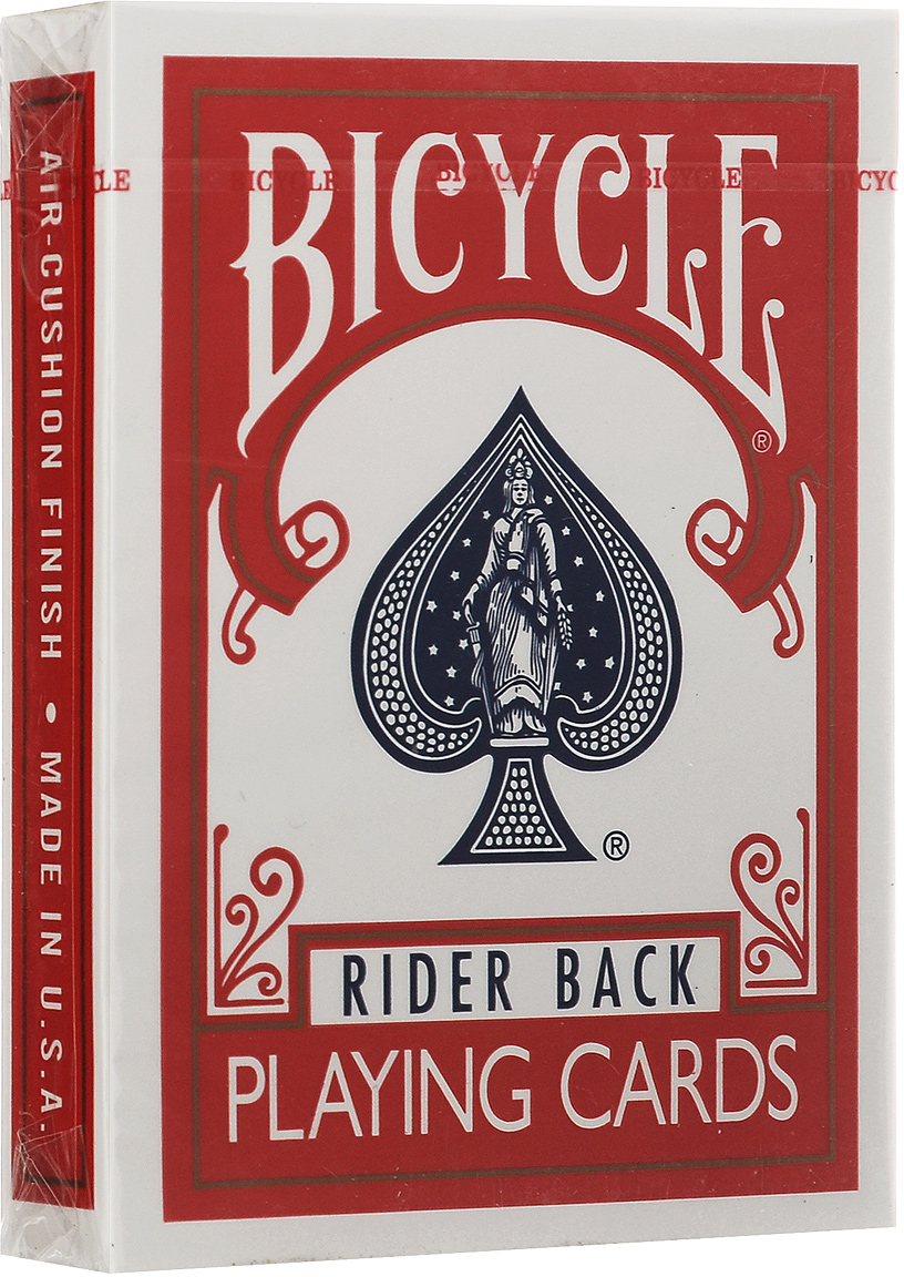 Карты игральные Bicycle Rider Back, цвет: красный mymei outdoor 90db ring alarm loud horn aluminum bicycle bike safety handlebar bell