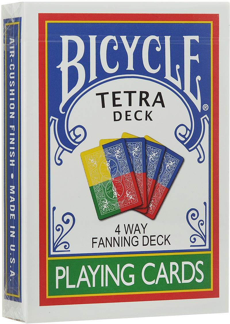 Игральные карты Bicycle Tetra Deck 4-Way Fanning, цвет: желтый, синий, зеленый игральные карты bicycle spectrum deck цвет мультиколор 56 шт