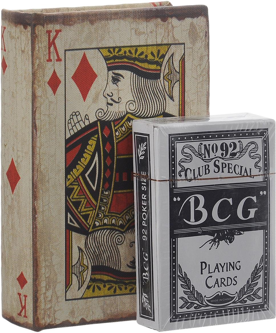 Фото - Набор игральных карт Феникс-презент Король бубен, в коробке, 54 листа фоторамка феникс презент велосипед 10 см х 15 см