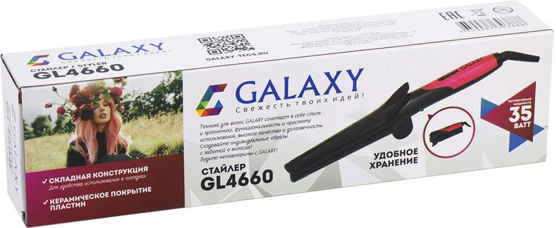 Прибор для автоматической укладки Galaxy GL 4660 Black Pink Galaxy
