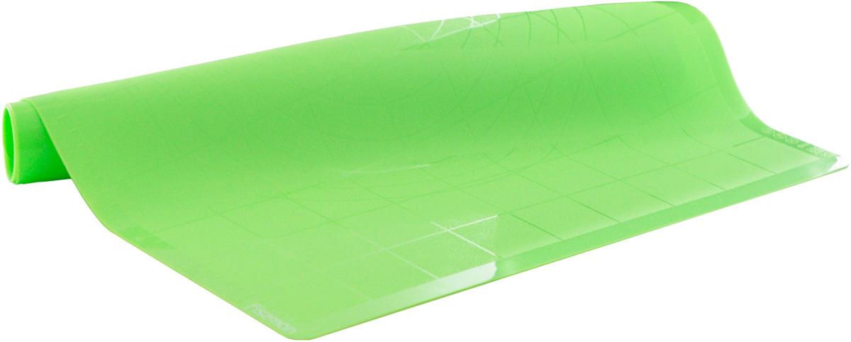 """Коврик для теста """"Fissman"""", цвет: зеленый, 57 х 47 х 0,1 см"""