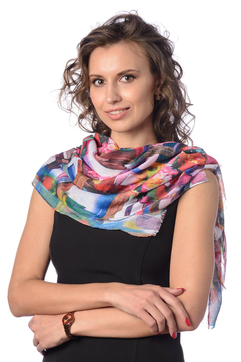 Палантин женский Nuages, цвет: разноцветный. NP-PC4075/62. Размер 75 х 180 см палантин женский ethnica цвет бордовый черный 080620а размер 70 х 180 см