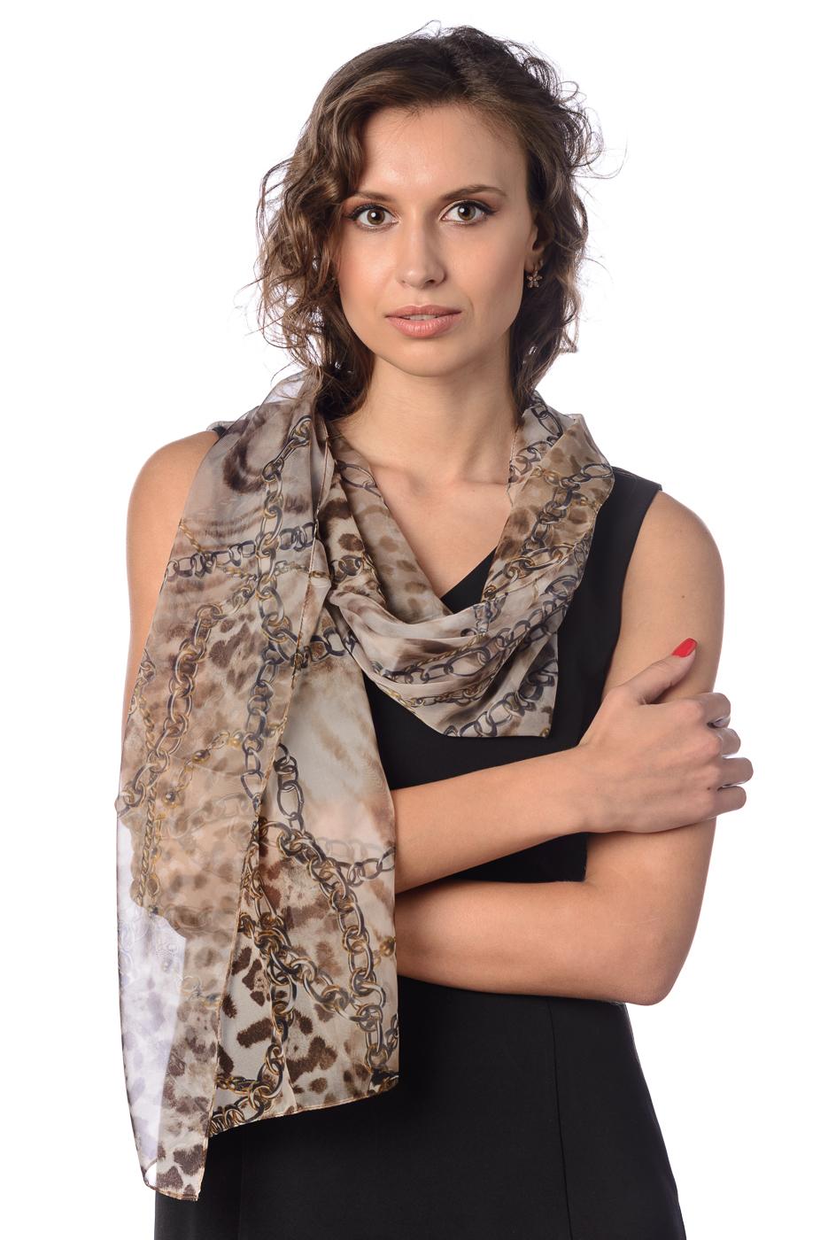 Шарф Stilla розовый шарф с принтом