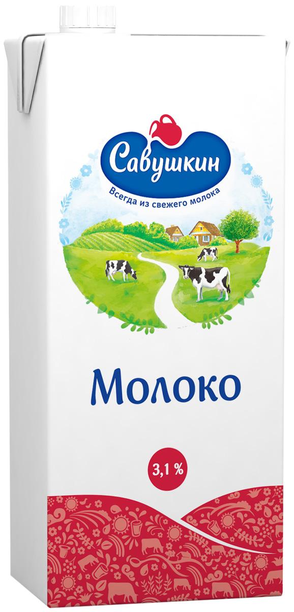 Савушкин Молоко ультрапастеризованное 3,1%, 1 л