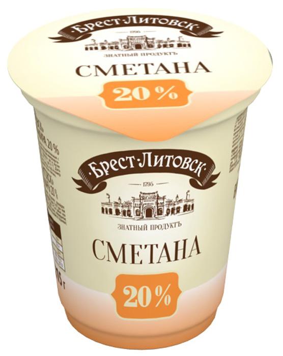 Брест-Литовск Сметана 20%, 315 г игрушки для младенцев брест