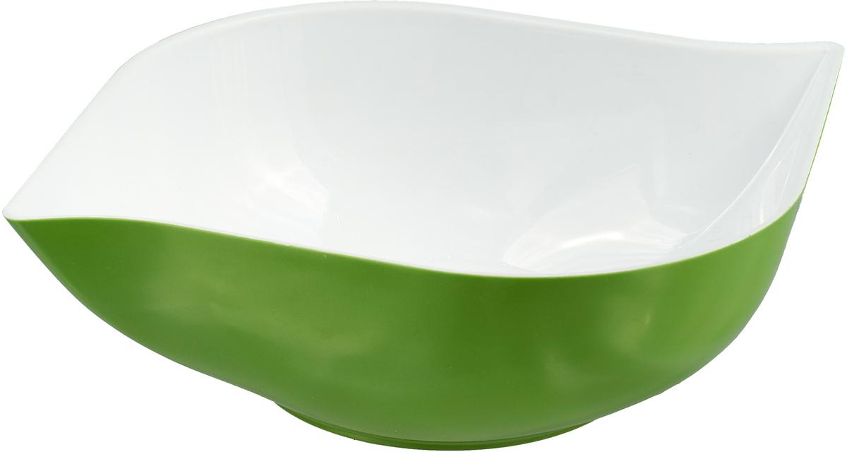 """Салатник двухцветный Беросси """"Estel"""", цвет: зеленый, 1,5 л"""