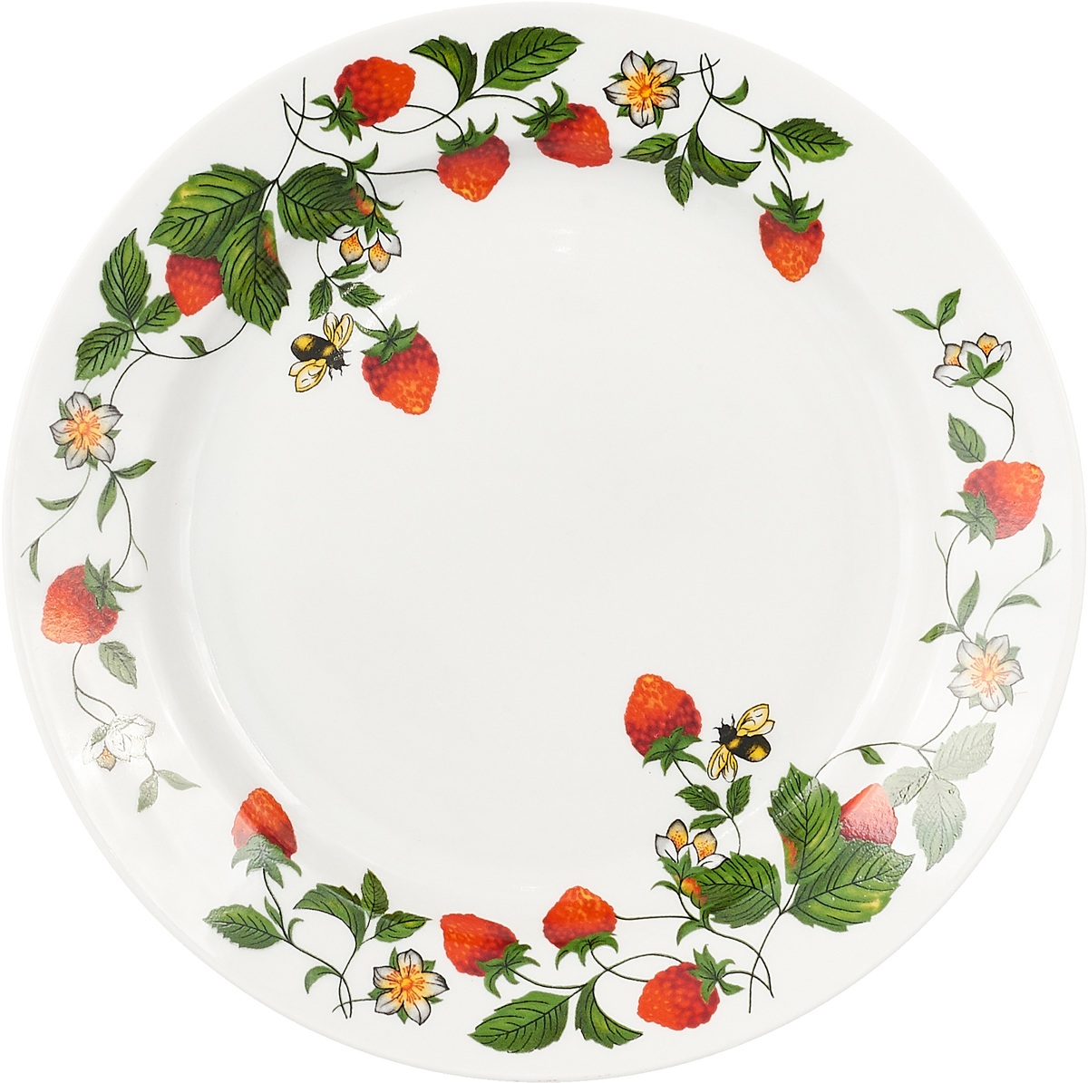 Тарелка обеденная Дулево Аромат земляники, 24 см цена