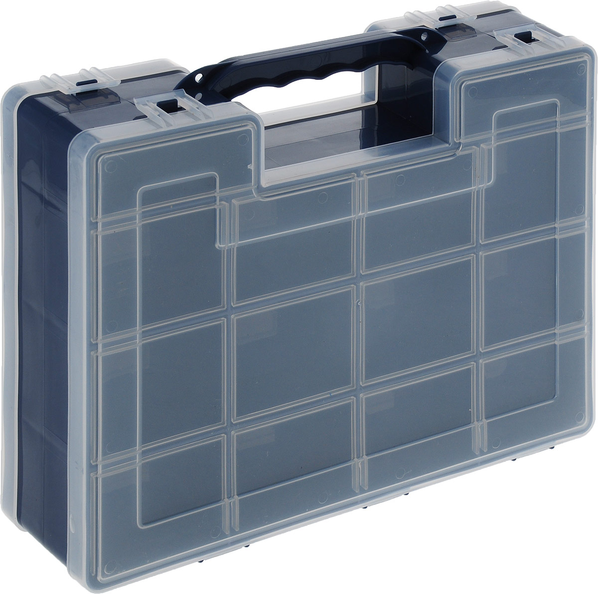 Органайзер для инструментов Idea, двухсторонний, цвет: синий, 27,2 см х 21,7 см х 6,7 см органайзер кухонный idea цвет салатовый 19 х 25 х 14 5 см
