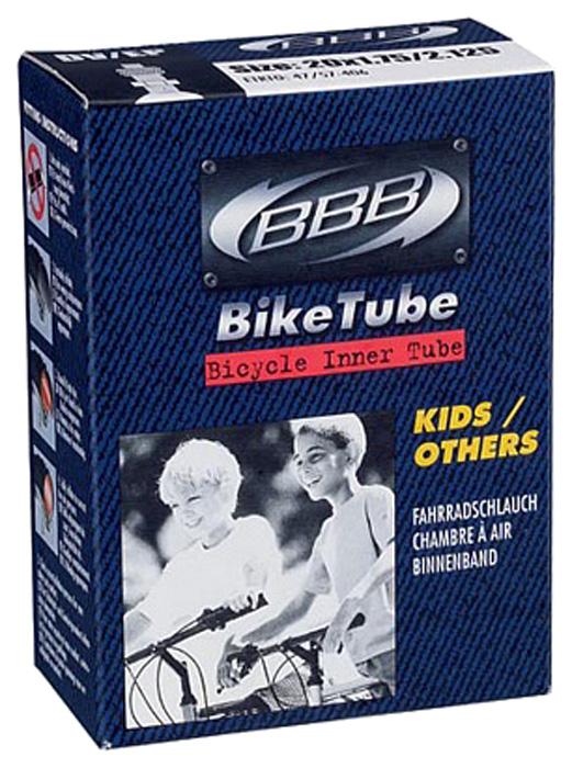 Велокамера BBB, цвет: черный, 18 х 1,75/2, 125 FV велокамера eastman 29x2 125