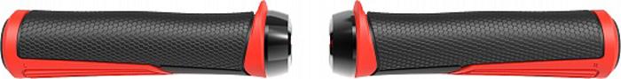 Грипсы BBB Cobra, цвет: черный, красный, длина 142 мм, 2 шт