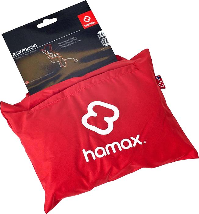 Чехол для велокресла Hamax Rain Poncho, цвет: красный
