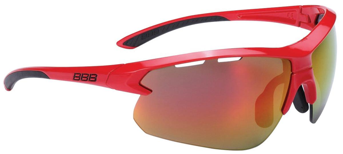 Очки солнцезащитные велосипедные BBB 2018 Impulse PC Smoke Red MLC Lenses, цвет: красный, черный